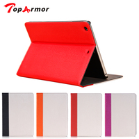 Tablet PC TopArmor Pu leather + Wood grain for 9.7 inch Apple iPad Air / 5 protective desk stand holder cover case backcover