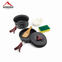 Widesea 1 2 Persons Camping Tableware Outdoor Cookware Picnic Set Travel Tableware Non Stick Pots Pans