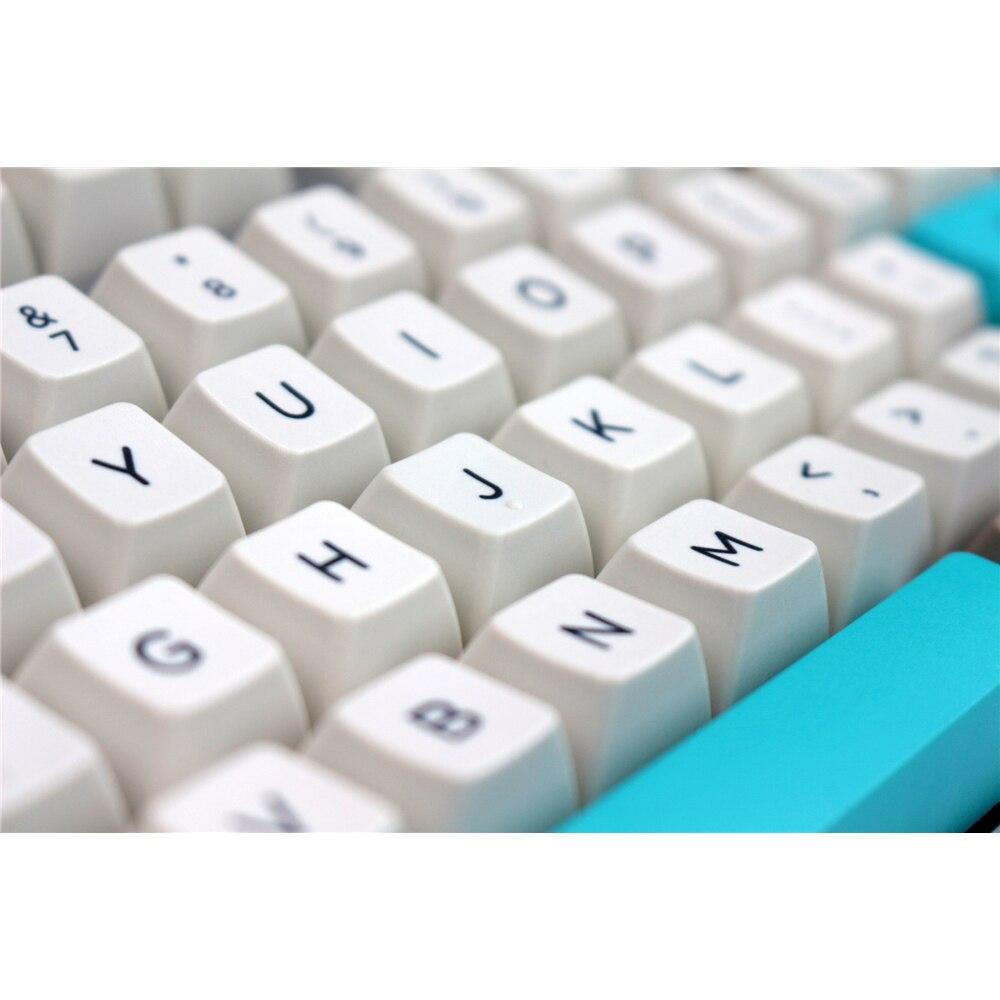 MP Retro Bege 134 CHAVES SA PBT Keycap Branco/Sublimação Keycap Mecânica Cereja MX mudar teclas para USB Com Fio teclado para jogos
