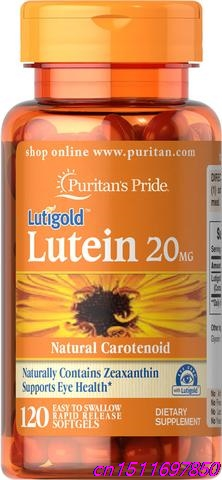 Pride Lutein 20 mg with Zeaxanthin 20 mg/120 bottle Lutein Lutigold plays a role in the maintenance of eye health pure natural marigold flower extract lutein 20
