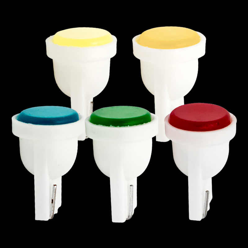 10pcs Ceramic Car Interior COB LED T10 W5W Wedge Door Instrument Side Bulb Lamp Car Light Blue/Green/red/Yellow/White Source 12V