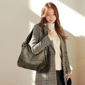 Image 4 - 2019 Sheepskin Leather Ladies Handbags Female Messenger Bags Designer Crossbody Bags for Women Tote Shoulder Bag for Girls Bolsa
