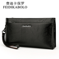 Brand Zipper Men Wallets With Phone Bag PU Leather Clutch Wallet Large Fashion Capacity Casual Long