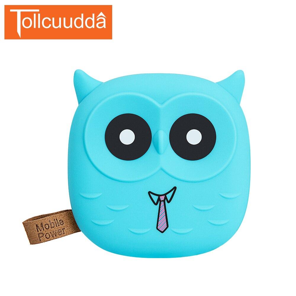 Tollcuudda <font><b>18650</b></font> PowerBank Cartoon Owl Power Bank 5000mAh Cute Portable <font><b>Charger</b></font> External Battery Pack For Iphone 8 Mobile <font><b>phone</b></font>
