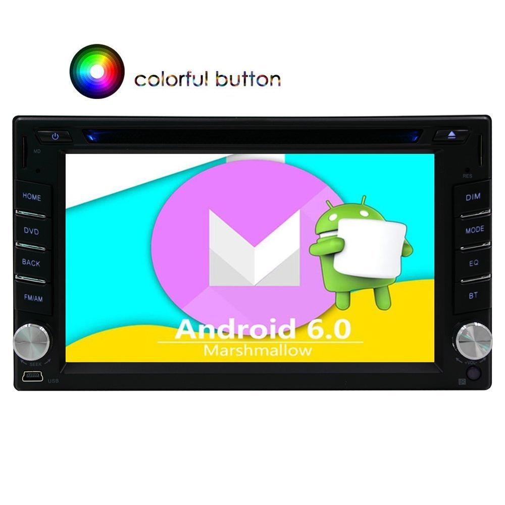 GPS Car DVD Player Android 6.0 2din Car Radio Stereo FM Radio Car GPS Map Navigation Headunit support Wifi 4G 3G OBD Mirror Link