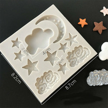 TTLIFE Cloud Star Moon Silicone Mold Fondant Cake Decorating Tool Chocolate Gumpaste Biscuit Pastry Dessert