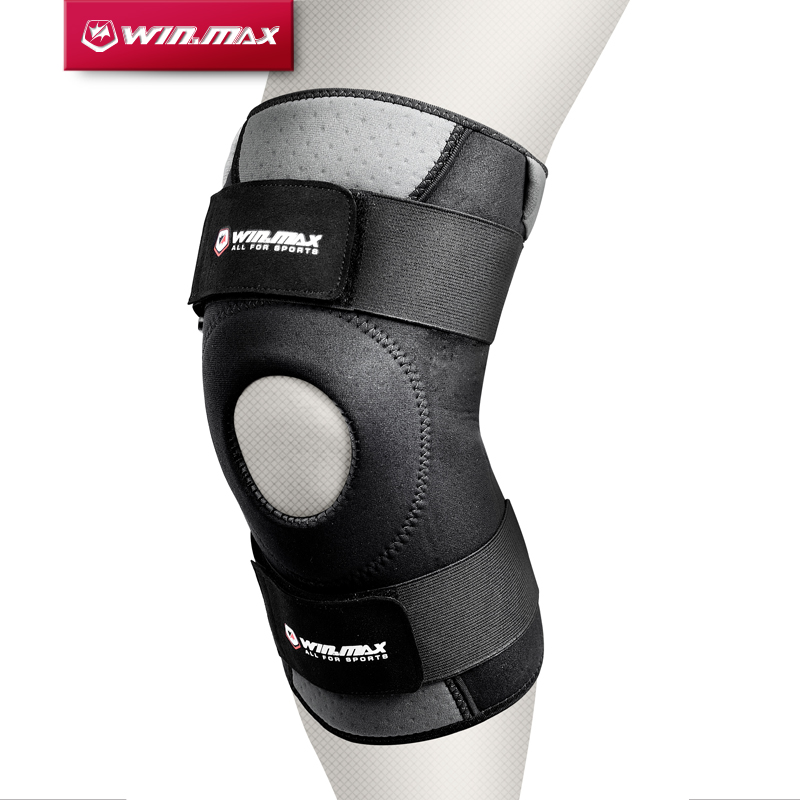 WINMAX Neoprene Elastic Open Patella Adjustable Basketball Kneepad Rodilleras Soutien Joelheira Knee Protector Support Pad Brace цена