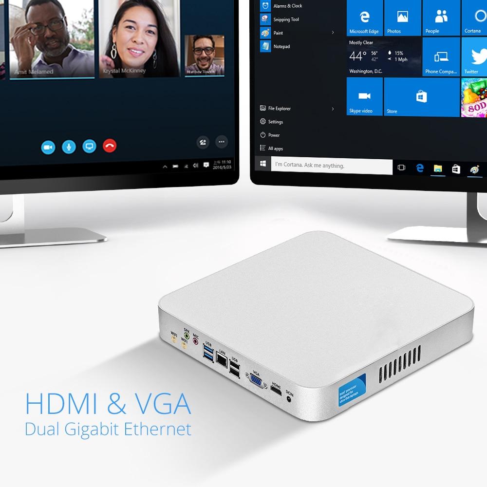 Image 3 - Barebones Mini PC Intel Celeron N3160 Quad Core Windows 10 Thin Client Mini Desktop PC Gaming HDMI VGA WiFi HTPC TV BOX-in Mini PC from Computer & Office