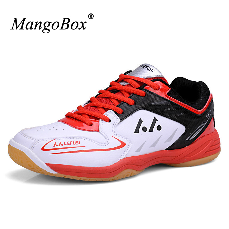 2016 Badminton Shoes For Men Leather Mens Badminton Sport Sneakers Big Size 11 Indoor Court Shoes Badminton Training Shoes