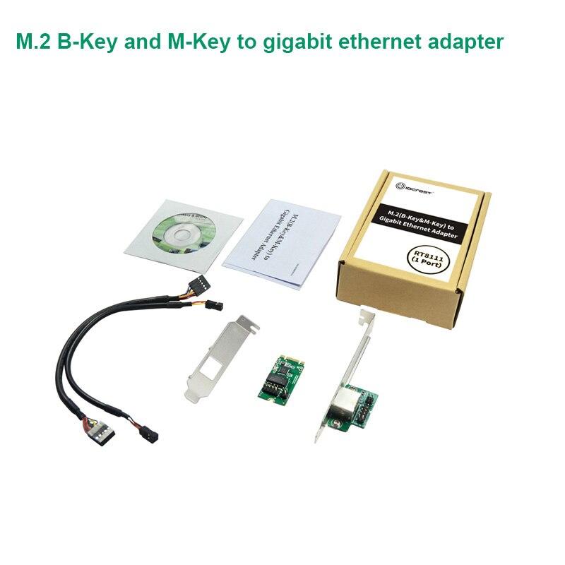 M.2 B-Key And M-Key To 1 Port 10/100/1000 Mbps Gigabit Ethernet Network Card Realtek 8111 Chipset