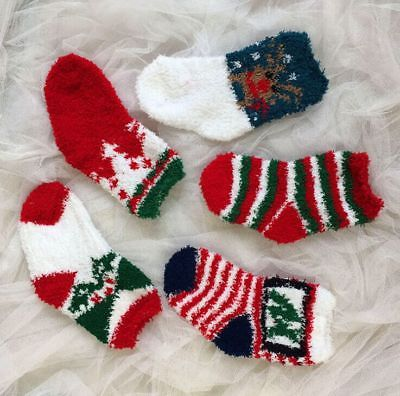 Christmas Baby Girls Boy Cotton Print Winter Warm Socks Childrens Kids Toddler Baby Ankle Fuzzy Xmas Soft Socks Sockken 1-6Y