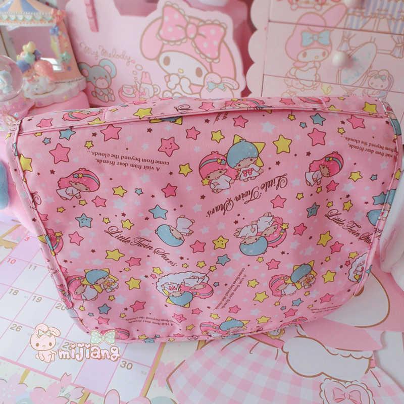 Стильная футболка с изображением персонажей видеоигр персонажи Little Twin Stars косметички с героями мультфильмов для девочек; сумки для путешествий необходимые органайзер, сумка для косметики для хранения косметички
