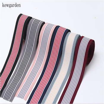 Kewgarden Stripe knitting Satin Ribbons DIY Bowknot Ribbon 16mm 25mm 38mm Handmade Tape Accessories Gift Bouquet Ribbon 10 Yards off white color gold purl twill ribbon 1 1 2 38mm handmade wedding diy crafts tape