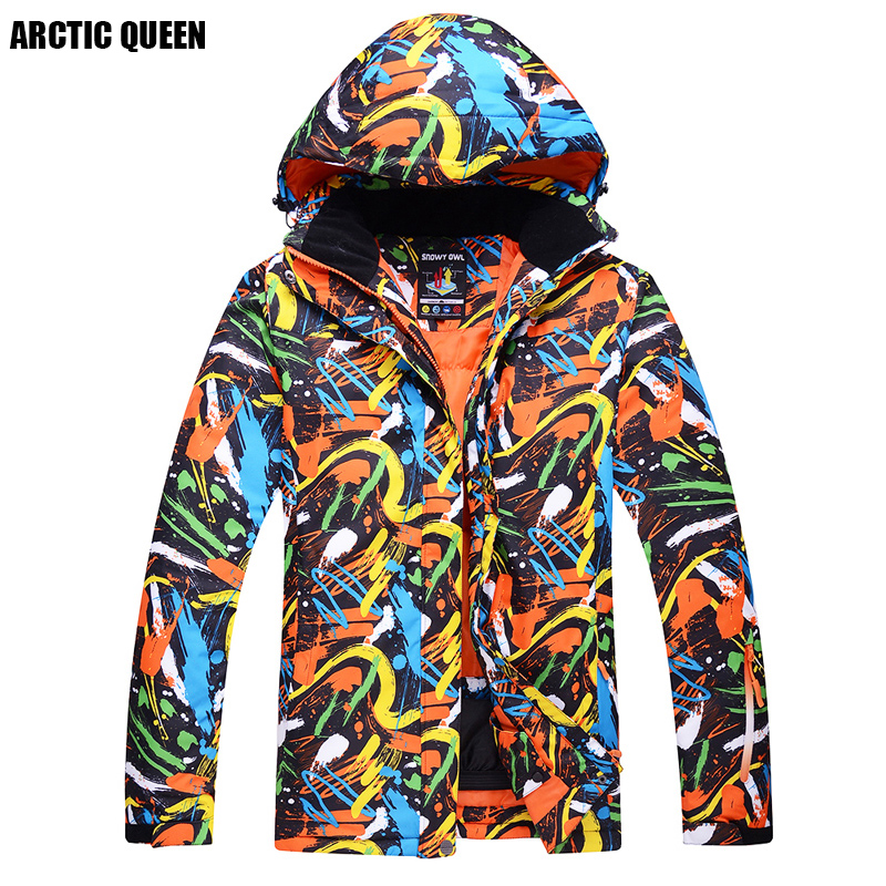 ARCTIC QUEEN Brand Man Ski Jacket Waterproof Jacket Windproof Snowboard Jacket Camping And hiking Jacket for men in winter sport detector men ski jacket hight waterproof mountain hiking camping jacket fleece hight windproof ski jacket