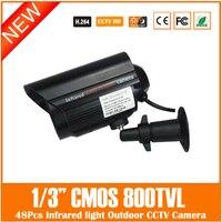 Analog Camera Bullet CMOS 800TVL IR Cut Filter 48Pcs IR Lights NightVision Video Outdoor Waterproof Surveillance