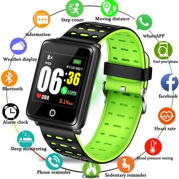 LIGE 2019 New Smart Watch Men Women Waterproof Sports Bracelet Heart Rate Monitor Blood Pressure Bluetooth For IOS Android +Box