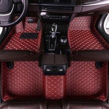 Leather Car Floor Mats for Volkswagen Vw Passat B3 B4 B5 B6 B7 B8 2000-2018 Custom Foot Pads Automobile Carpet Cover