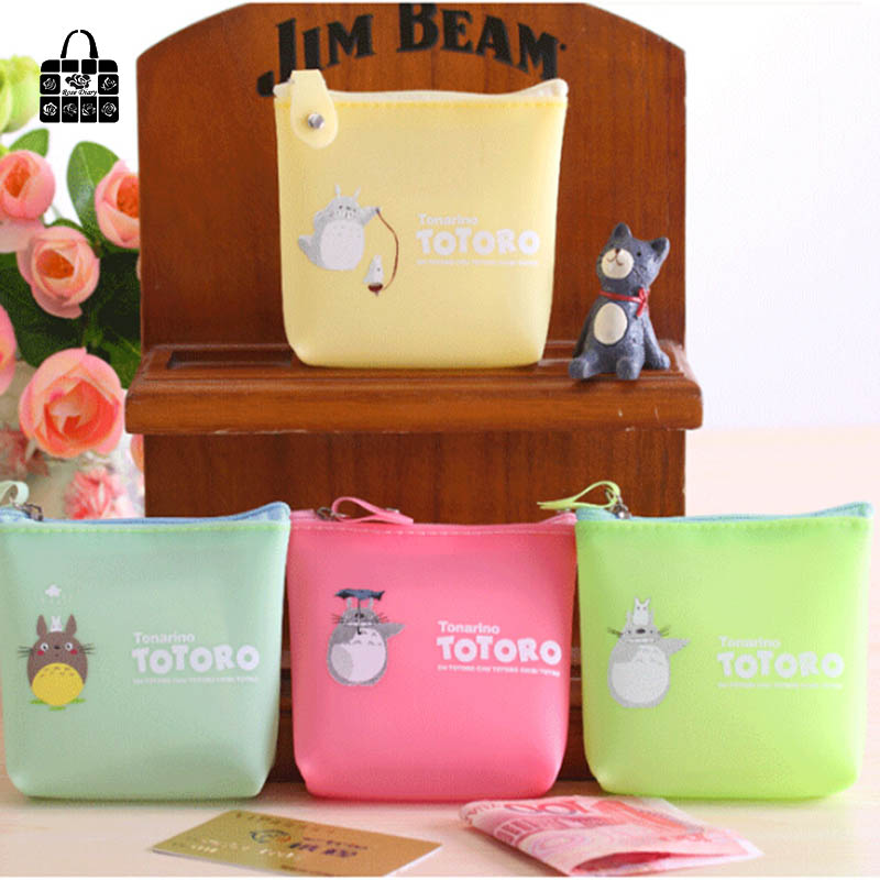 RoseDiary totoro candy color jelly glue Coin Purses Zipper Women Girl Kids Ladie Coin Pouch Money Case Bag Change Purse Wallet