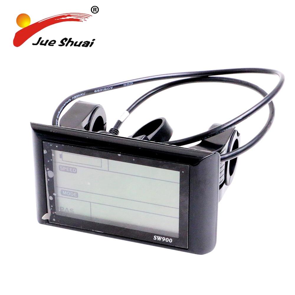 Electric Bicycle <font><b>Computer</b></font> E-Bike 36V/48V LCD Display Speedometer Mount Bike Edge Odometer Sensor Meter Watch Monitor Waterproof