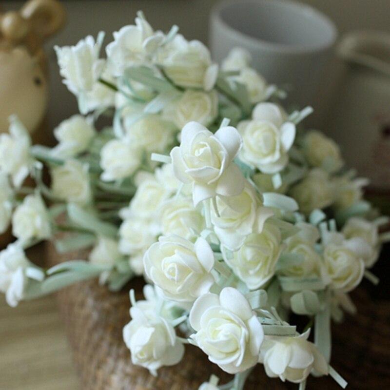 Имитация снежинки бутон пластиковые поддельные цветок декоративный цветок для дома вечерние свадебные украшения
