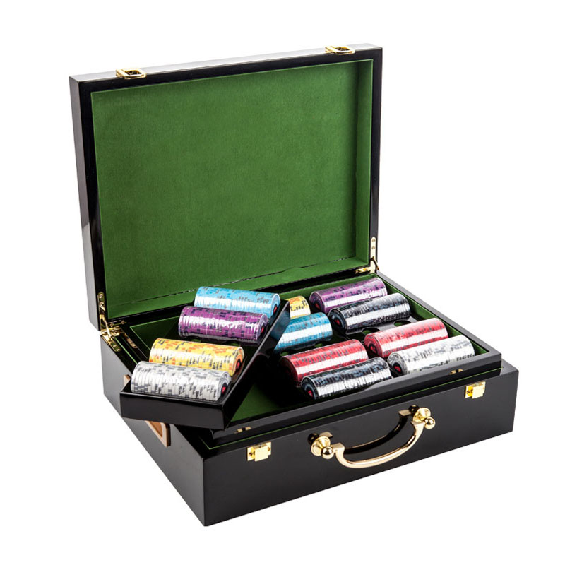 Poker Chips Suitcase Boutique Piano Coating Detachable 500PCS-Capacity Poker Case High Quality Maleta de Poker Mabogany Wood