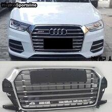 Для Audi Q3 модифицированный SQ3 стиль передний капот Центральная решетка Стайлинг автомобильной решетки хромированная эмблема