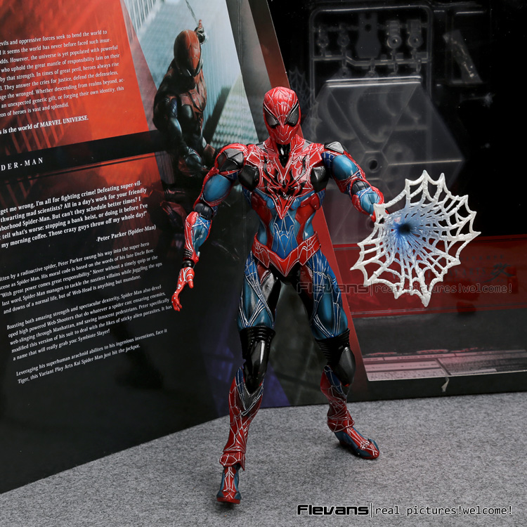 Play Arts Kai Spiderman The Amazing Spider-man PVC Action Figure Collectible Model Toy 28cm anime doll superher playarts kai spiderman the amazing spider man pvc action figure model toy 28cm t3045