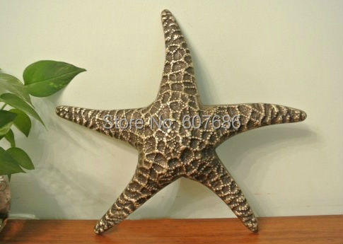 Vintage Large 11 Metal Br Starfish Beach Decor Art Sculpture Nautical Theme Copper Wall Hanging Sea Star Marine Gold Crafts In Figurines Miniatures