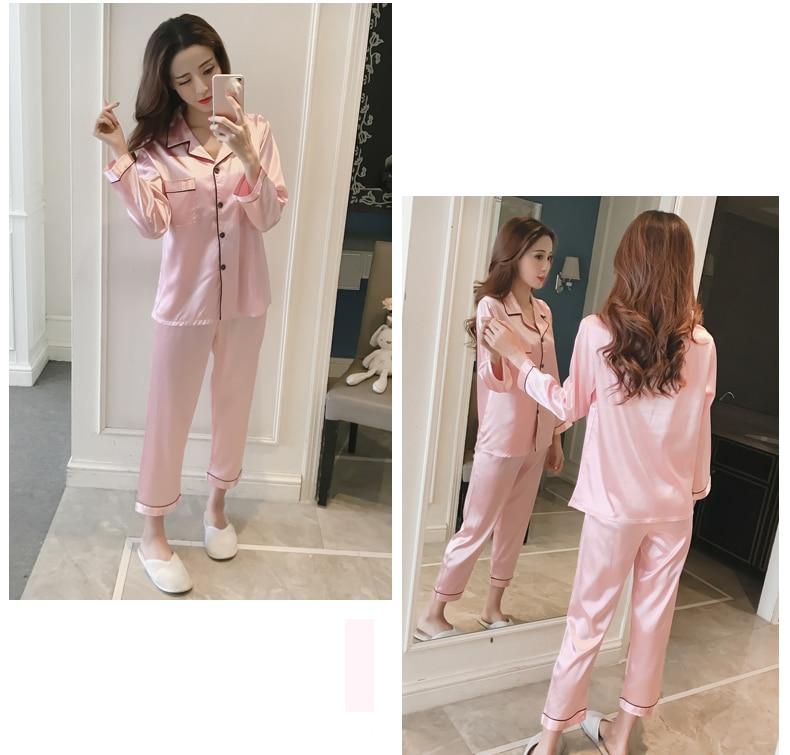 Silk Satin Pyjamas Set 14 (2)