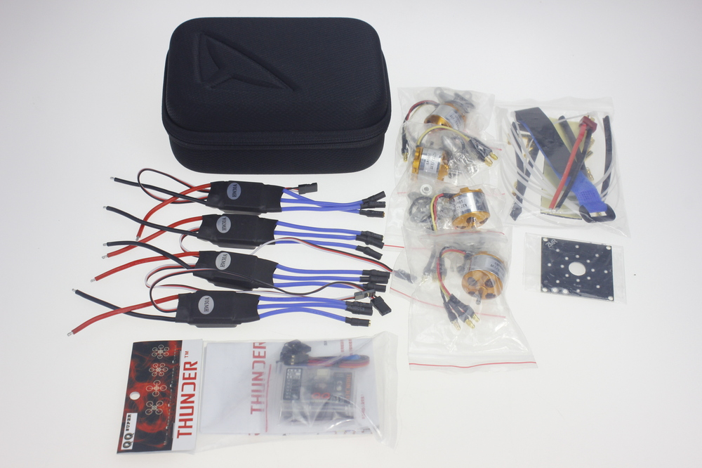 EVA Camera Bag A2212 Motor 30A ESC 3.5mm Connector Fastening Tape T Plug Connector ESC Board QQ SUPER Flight Control Y06896-D y10335 l silver quadrocopter case with t6ehp e transmitter 30a esc a2212 1000kv motor esc board 1045r propeller qq super page 8