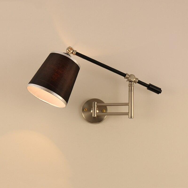Nordic Creative Folding Wall Lamp Long Arm Adjustable Light Bedroom Bedside Office Study Living Room Mirror Light Wall Sconce декоративні лампи із дерева у стилі бра