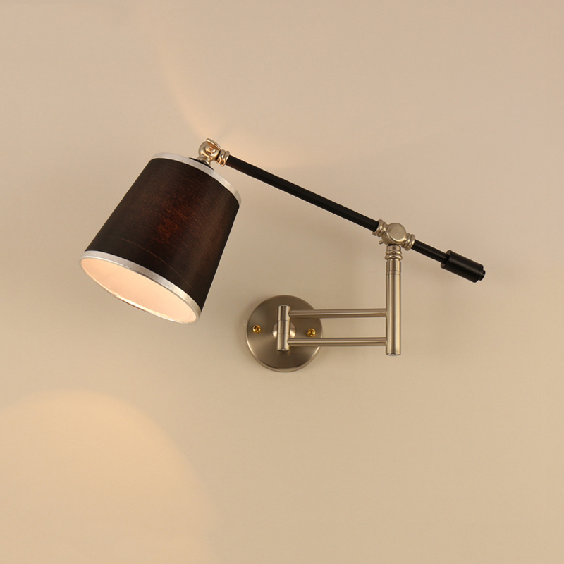 Nordic Creative Folding Wall Lamp Long Arm Adjustable Light Bedroom Bedside Office Study Living Room Mirror Light Wall Sconce modern american country retro mirror front wall light creative bedside bedroom living room study long arm wall lamp