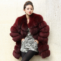 YIN FEI Luxury Top Quality New Natural Furs Fox Coats Lady Real fur Jackets Women's Genuine Fur Overcoat Outerwear 5XL