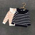 spring and autumn new style baby girls striped sweater children's knitted sweater children sweater kids cute thin sweater