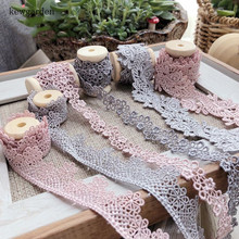 Kewgarden Hollow Jacquard Water Soluble Hollow Lace Handmade Tape DIY Clothing Dress Laciness Ribbon Webbing 2 Meters