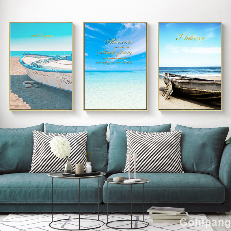 Seaside-Home-Decor-Seascape-Wall-Art-Print-Nordic-Canvas-Painting-Bedroom-Living-Room-Picture-Landscape-Boat (2)