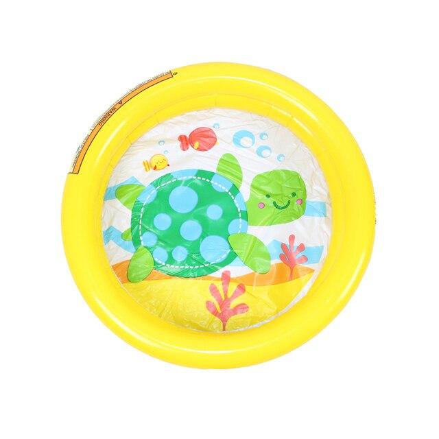 Piscina de natación de bebé 61*15 cm piscina de juego de verano inflable adorable tortuga animal impreso fondo chico piscina pulpo