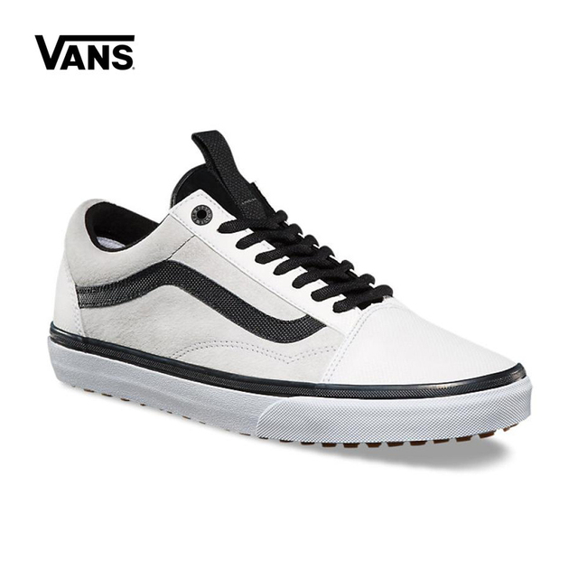 99b7cd1ba98ea5 2018 Vans Old Skool Classic Non-slip shoes Unisex White Sneakers Men s Low- top Leisure Athletic Shoes Women s Skateboarding Shoe