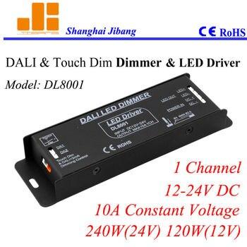 Gratis Verzending DALI driver, dimbare DALI controller, DALI LED dimmer, constante Spanning 1 channel/12 V-24 V/10A/240 W pn: DL8001