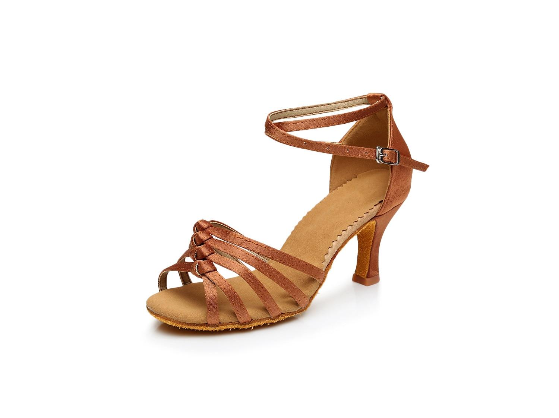 2017 Նոր ոճ Սեքսուալ կանացի պարային կոշիկներ Satin Latin / Ballroom for girls Բարձր կրունկներ Պարային կոշիկներ