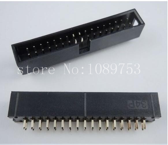 100pcs IDC Box header DC3 DC3-34P 2x17 pins 34P 2.54mm Pitch 100pcs idc box header dc3 dc3 6p 2x3 6 pins 6p 2 54mm pitch