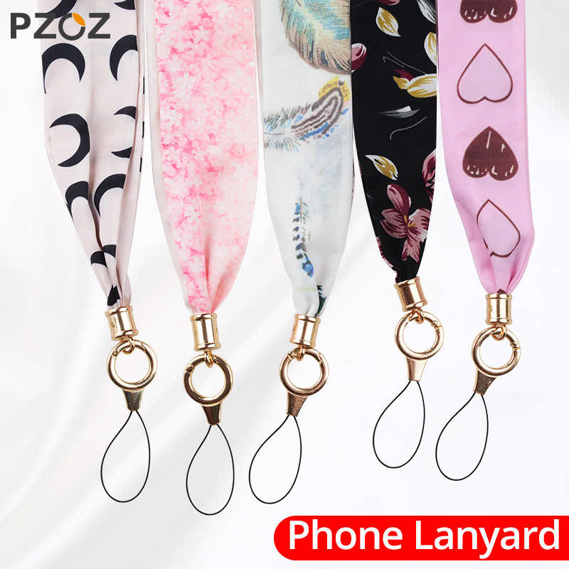 PZOZ Mobile Phone lanyard Strap For iPhone Samsung Xiaomi LG Anti-loss DIY Hang Wave Rope Fashion Neck Straps Keychain lanyard
