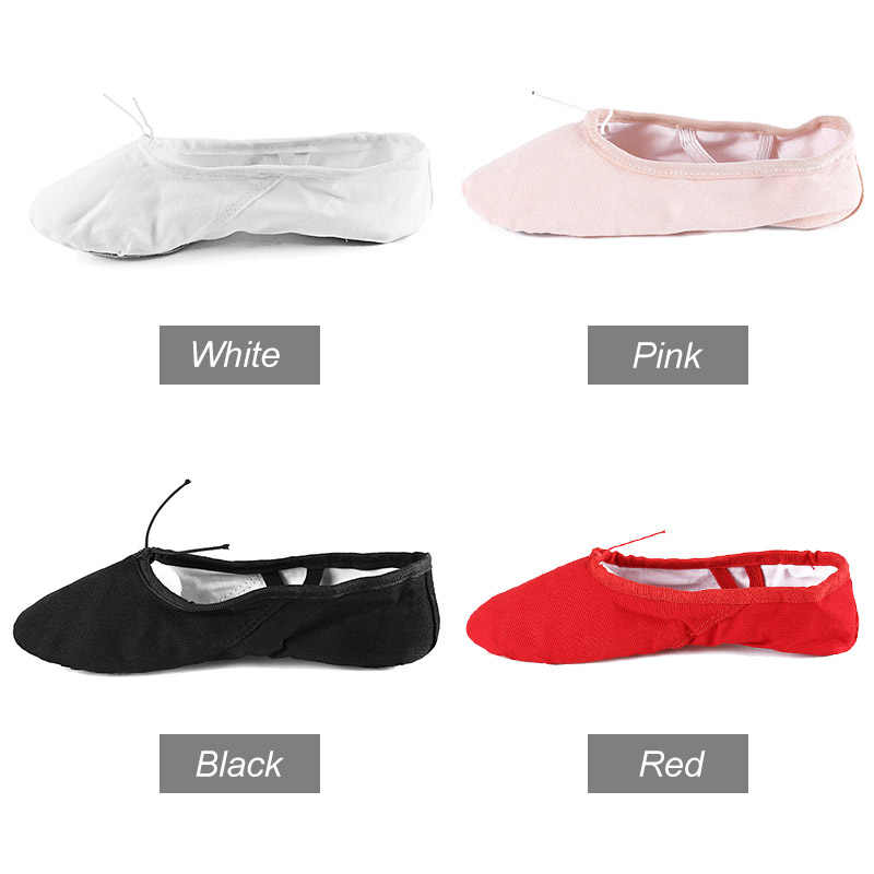 ... Ballet dance shoes Canvas Soft Ballet Dance Shoes For Children Girls  Women Kid White Red Black ... 0a9738a237fb