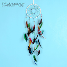 MIAMOR Handmade Big Dreamcatcher With Colorful Feather & Natural Stone Home Wall Hanging Decoration Accessories Gift AMOR01688