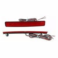 2x LED Car Styling Red Rear Bumper Reflector Light Fog Parking Stop Brake Light Tail Lamp