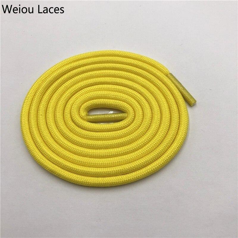 Weiou 0,5 см круглые спортивные шнурки из полиэстера толстые походные шнурки одежда веревка для скалолазания шнурки для ботинок Детские мужские - Цвет: 2705Light yellow