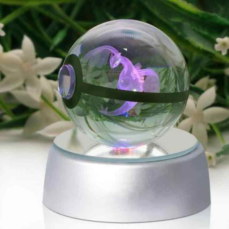 Супер дракон Покемон настольная лампа из хрусталя диаметр 5 см стеклянный шар Покемон 5 в настольная лампа игрушка для декоративных подарков