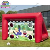 sport toys Inflatable soccer frame football door,football shooting target goal post soccer goal target