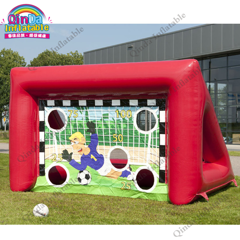 sport toys Inflatable soccer frame football door,football shooting target goal post soccer goal target inflatable football field shooting soccer goal kicking gate game l6mxh3m for children kids party sport games toy
