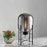 Современная Nordic четыре штатив настольные лампы E27 стекло абажур творческий гостиная прикроватная тумбочка для спальни исследование настол